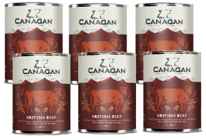 Canagan Can British BEEF - dla psów-   6x 0,4 =2,4kg